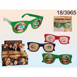 Śmieszne okulary z efektem 3D
