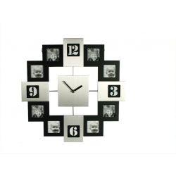 Zegar z ramkami na 12 zdjęć