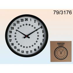 Zegar 24h na tarczy układ 24 godzinny nie 12 godzi