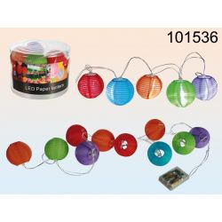 Lampiony z diodą LED - 10 sztuk