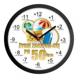 Zegar urodzinowy na 50-stkę urodziny