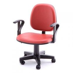 Mini fotel biurowy Czerwony