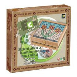 Szkatułka z kamienną mozaiką Ozdobna szkatułka z e