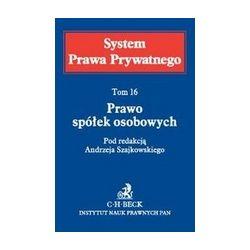 0 Prawo spółek osobowych Tom 16 Andrzej Szajkowski