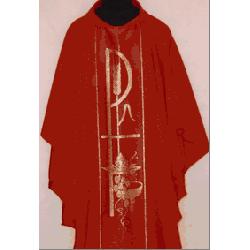 Ornat czerwony tkany