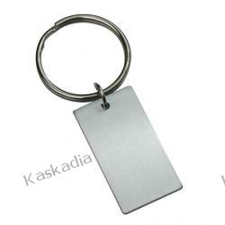 Brelok aluminiowy - prostokątny