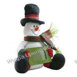 Bałwanek z ramką na życzenia świąteczne