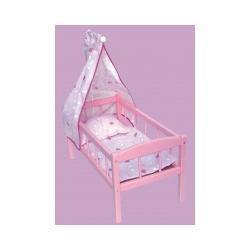 Łóżeczko dla lalek z baldachimem Lalki i akcesoria