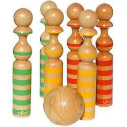 Kręgle drewniane kolorowe Vilac