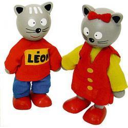 Figurki kotka Leona i Lei Figurki