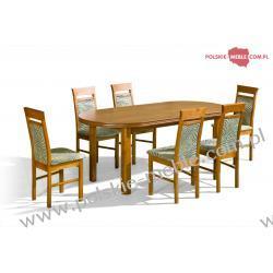 Stół Baron + krzesła P-13 (6szt) - zestaw MM16