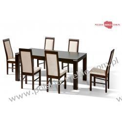 Stół TOM + krzesła P-20 (6szt) - zestaw MM4