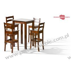 Stół BELG 1 + krzesła H-8 (4szt) - zestaw MM7