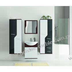 Łazienka TINA 2 wenge/biały+czarny połysk