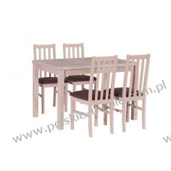 Stół MAX 5 + krzesła BOSS 10 (4szt.) - zestaw DX9