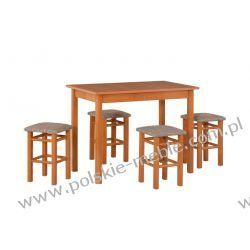 Stół MAX 1 + krzesła Taboret P (4szt.) - zestaw DX7
