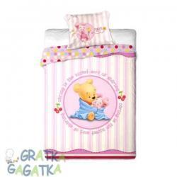 Pościel 2-el Disney Baby Kubuś Puchatek różowa