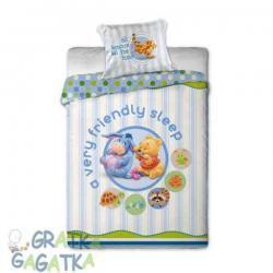Pościel 2-el Disney Baby Kubuś Puchatek niebieska