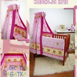 Pościel 6-elementowa C6 Pink Bears