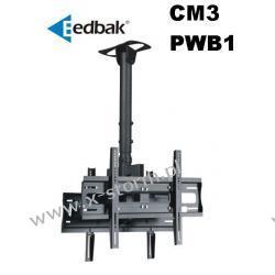 Zestaw CM3 + 2 x PWB1 Uchwyt sufitowy do ekranów plazmowych/LCD 32-60