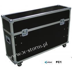 FC1 Flightcase uniwersalny do wózków serii TR z przegrodą na monitor do 47 cali