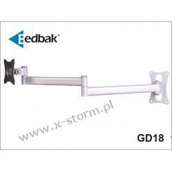 GD18 Podwójne Ramię Obrotowe Ścienne do Monitora LCD/TFT