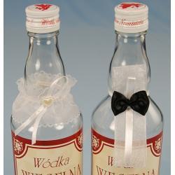 Ubranko na wódkę podwiązka i krawat,biel 1 szt.