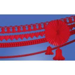 Girlanda dzwon 360cm. czerwony