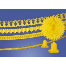 Girlanda dzwon 360cm. żółty