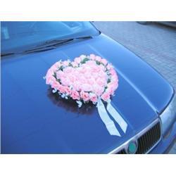 Bukiet na samochód serce - różne kolory