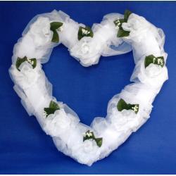 Serce kwiatowo-tiulowe, 50 cm