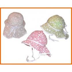 KAPELUSZ  kapelusik  Z OSŁONKĄ NA KARK - 48 cm