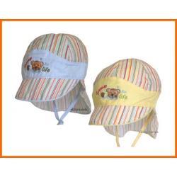 CZAPKA czapki  Z OSŁONKĄ NA KARK  44  plażowicz