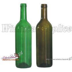 Butelka szklana 750ml  bordo OWI