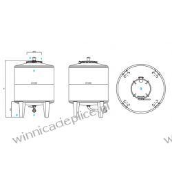 Zbiornik pełny właz grn 7,5hl MTH Maszyny specjalistyczne