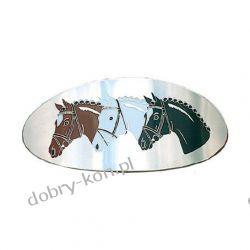 Klamra do włosów HR trzy konie owalna metalowa