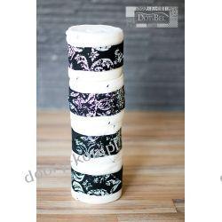 DotiBel, Owijki polarowe biały & czarny z białym ornamentem