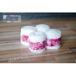 DotiBel, Owijki polar. biały&rożowe różyczki