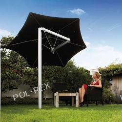 Parasol ogrodowy Paraflex Monoflex 270 cm z wysięgnikiem 185 cm i palem made in Belgium  Parasole