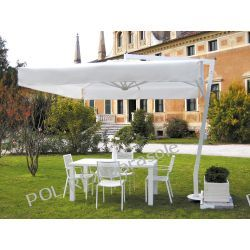 Parasol ogrodowy Afrodite Alu White 300cm x 400cm made in Italy Parasole