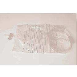 Worek do dobowej zbiórki moczu 2l z zaworem krzyżowym T niesterylny KDM