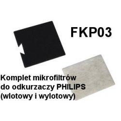 Komplet mikrofiltrów FKP03 do odkurzaczy odkurzacza PHILIPS