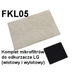 Komplet mikrofiltrów FKL05 do odkurzaczy odkurzacza LG