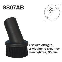 Ssawka okrągła z włosiem o śr. wew. 35 mm do odkurzaczy - SS07 Pozostałe