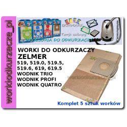 Worki do odkurzaczy ZELMER 519, 619, Wodnik - ZA07