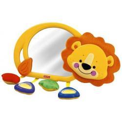 Zawieszka do łóżeczka - Uśmiechnięty Lew z Lusterkiem - zabawka Fisher Price