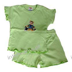 Komplecik letni GIRL: Tygrysek, pistacja, bluzeczka i spodenki- r.68 Odzież