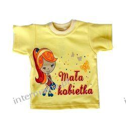 Koszulka NAPI: MAŁA KOBIETKA słoneczna kr. rękaw r.68 Bluzki