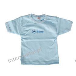 Bluzeczka GIRL błękitna kr. rękaw r.7 Rozmiar 74