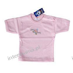 Bluzeczka GIRL różowa kr. rękaw r.74 Odzież